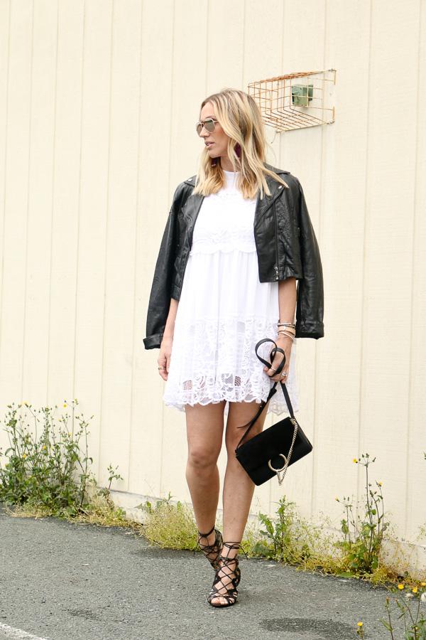 white lace trim babydoll dress parlor girl