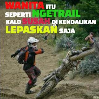 Dp Bbm Motor Trail Lucu