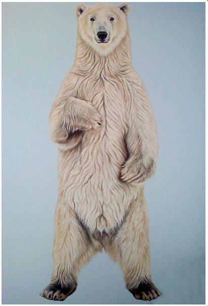 Scott Zaragoza, polar bear painting