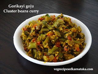 Gorikayi gojju recipe in Kannada