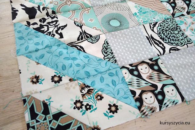 patchwork, quilt, wzór, szablon, jak szyć?, jak uszyć, na maszynie, kursy szycia, warsztaty szycia, materiały na patchwork, wrocław,