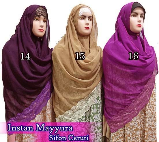 jilbab instan dari bahan sifon ceruti