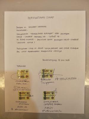 Sahabat Herman HN Alihkan Dukungan ke Ridho-Bachtiar