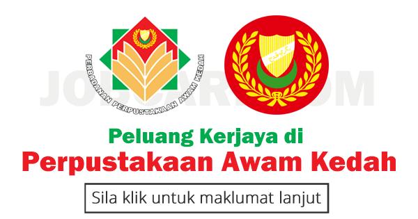 Jawatan Kosong Perpustakaan Awam Kedah PPAK 2017