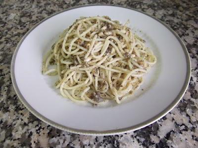 Espaguettis al pesto