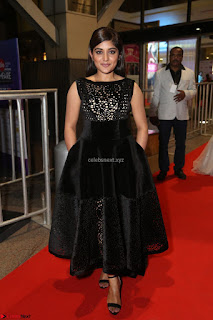 Niveda Thomas Black Sleeveless Cute Dress at 64th Jio Filmfare Awards South 2017 ~  Exclusive 066.JPG