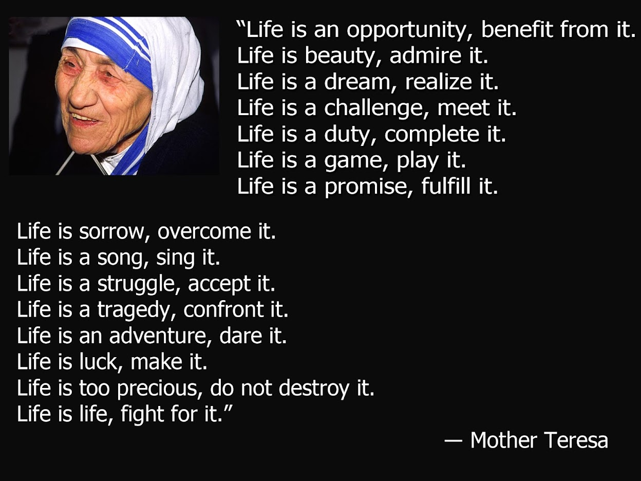 Mother Teresa Quotes About Death. QuotesGram