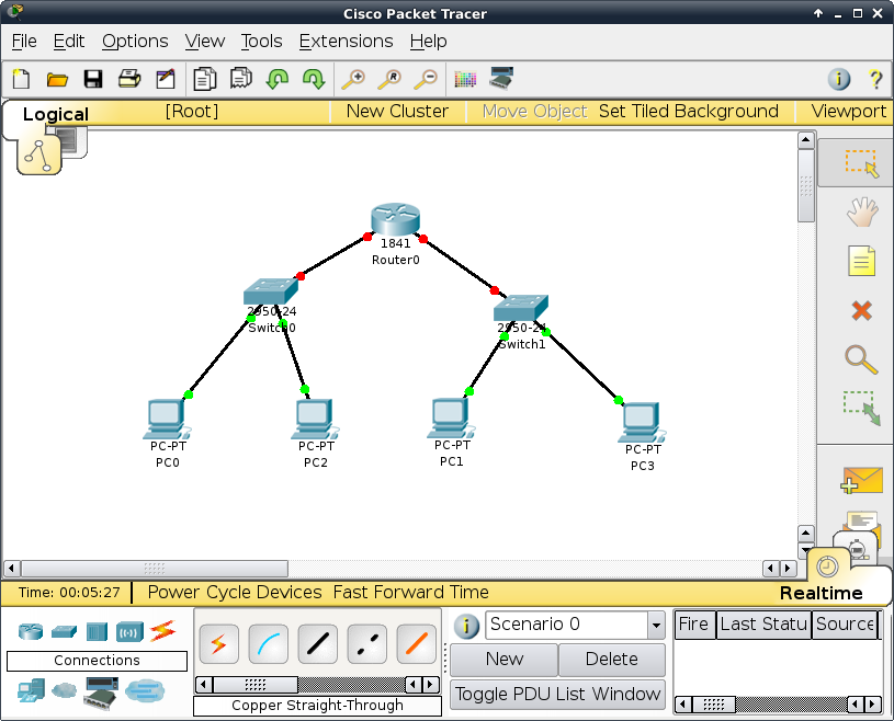 Packet tracer portable