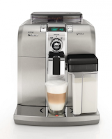 Saeco Syntia Espresso Maker with Built-in Grinder and Integrated Milk Frother