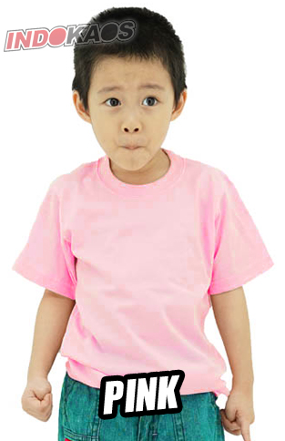 Kaos Polos Anak Pink