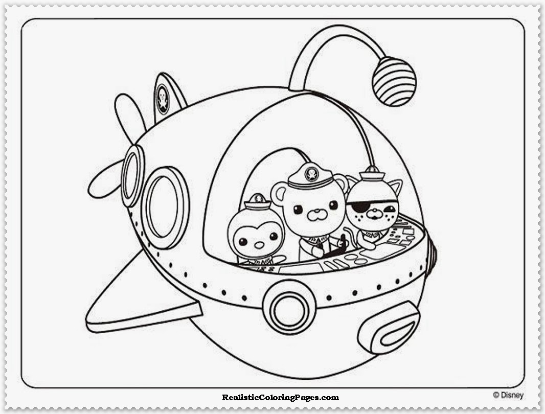 octonauts colouring pages octopod