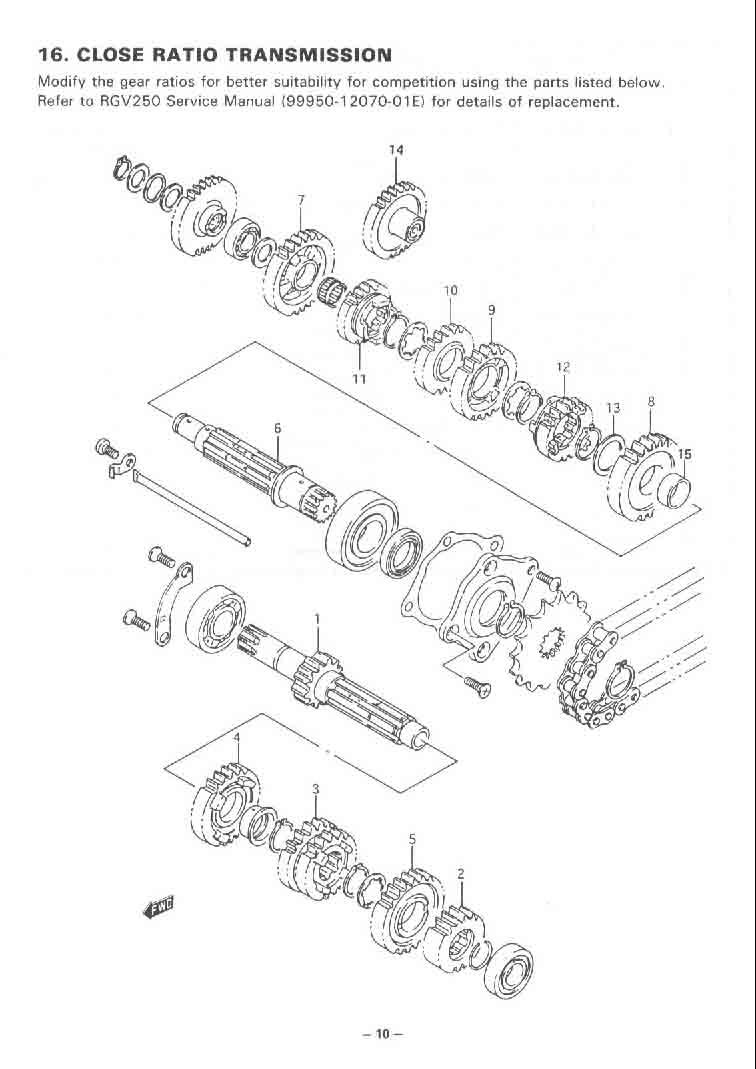 Suzuki RGV 250 VJ22 1995 Rebuild Log: Hop-Up Kit Manual
