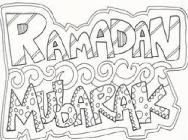 Gambar Mewarnai Ramadhan Bulan Puasa Penuh Berkah Gambar Mewarnai Lucu
