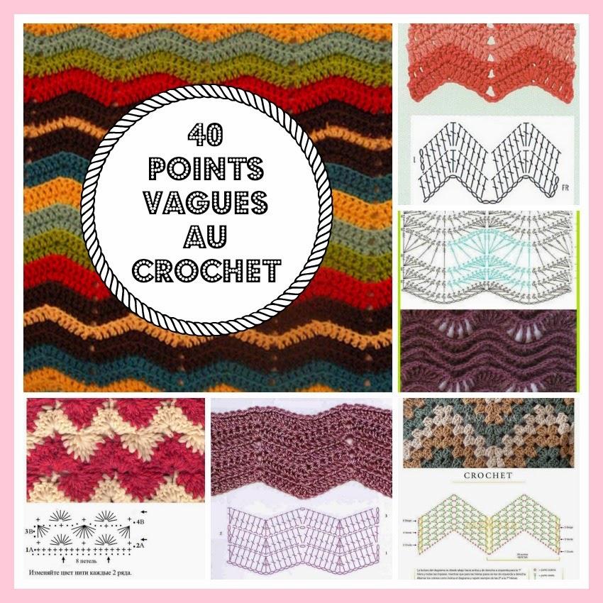 aa3d7b4da9b MES FAVORIS TRICOT-CROCHET  40 points vagues au crochet