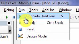 Cara Menjalankan Macro VBA Excel