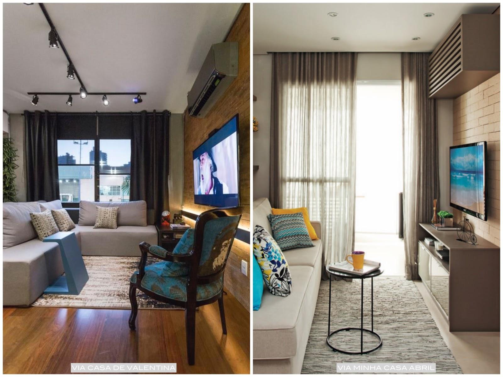 Decora O De Sala Pequena Dicas E Truques Casa Pensada -> Fotos De Salas De Tv