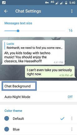 chat background