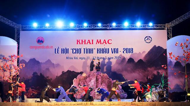 Khai mạc lễ hội Chợ tình Khâu Vai năm 2018