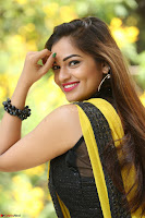 Cute Actress Ashwini in Yellow Saree Exclusive  031.JPG