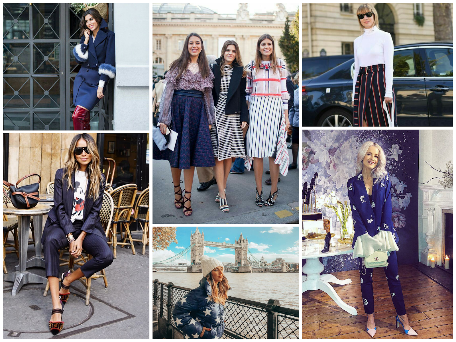 Fashion Bloggers en azul marino