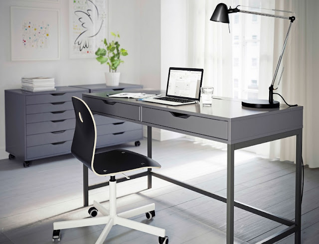 best buying home office desk gray and chair for sale cheap