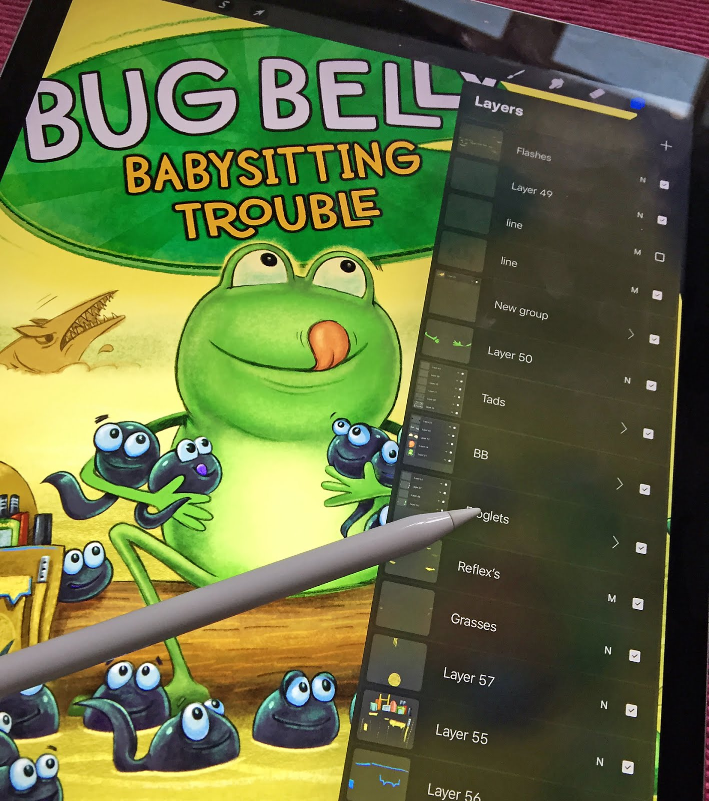 VIDEO OF BUG BELLY COVER ARTWORK