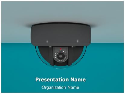 CCTV Camera 3D Animated PowerPoint Template