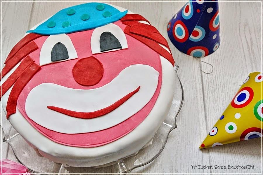 Clown-Motivtorte
