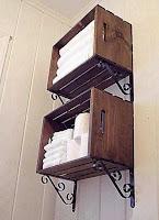 mueble de baño para toallas con cajon de madera