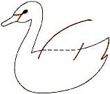Langkaha cara gambar bebek dari angka 2