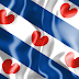 Wallpaper vlag van Friesland in 3D