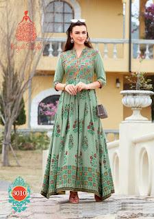 Kajal Style fashion Color bar vol 3 kurtis Catalog wholesale price