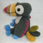 patron gratis tucan amigurumi | free pattern amigurumi toucan