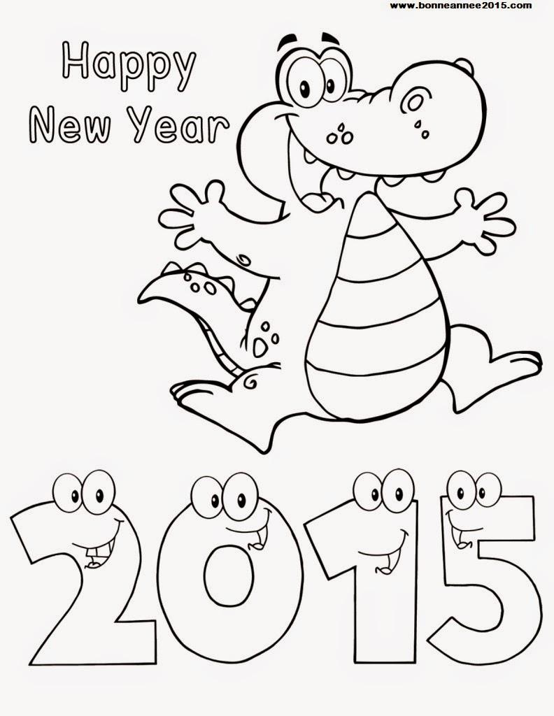Coloriage Bonne Année
