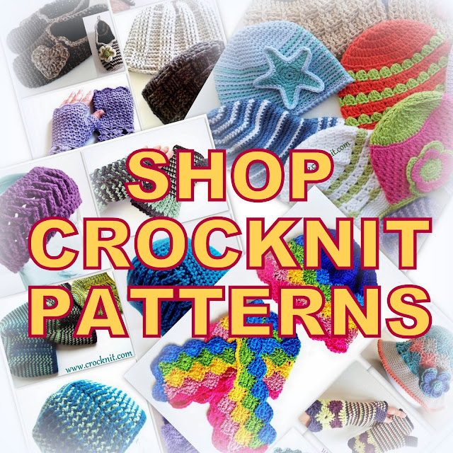 crochet patterns, knit patterns, free patterns, Barbara Summers, crocknit, hats, beanies, hats, sun hats, scarves, blankets,mittens,
