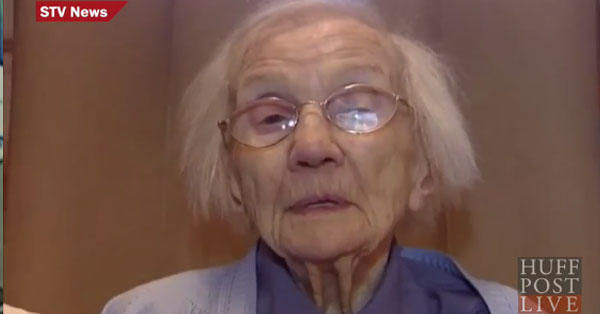 109 years old woman avoided man
