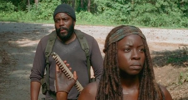 Tyreese y Michone en The Walking Dead 5x09