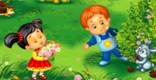 Imagen por la Primavera para niños a color