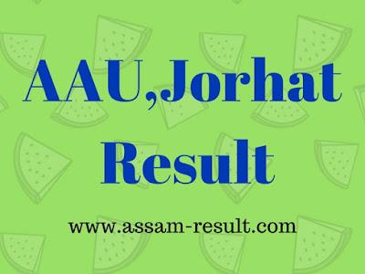 AAU,Jorhat  Result
