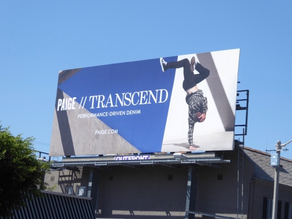 Paige Transcend denim FW17 billboard