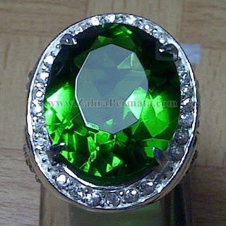 Cincin Batu Permata Green Tektite - ZP 947