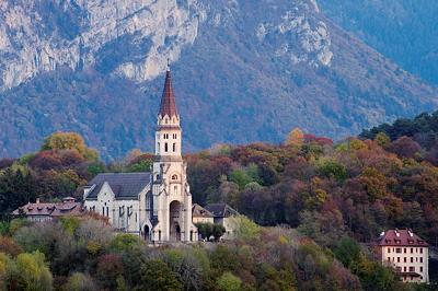 Visitation basilica in autumn light