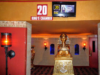 Ancient Egypt trappings in the Grand 22 movie theater in Bismarck, ND