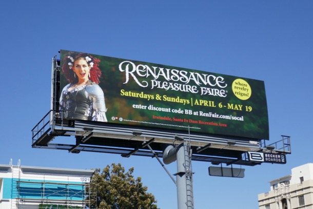 Renaissance Faire 2019 billboard