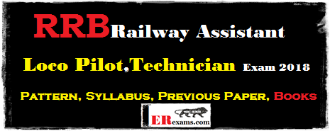 Railway Assistant Loco Pilot, Technician Pattern, Syllabus, Previous Paper, Best Books 2018