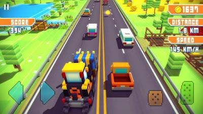 Blocky Highway Traffic Racing APK