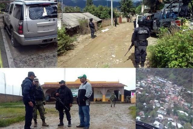 """VESTIDOS DE MILITARES MÁS DE 100 SICARIOS """"REVIENTAN"""" PUEBLO en GUERRERO"""