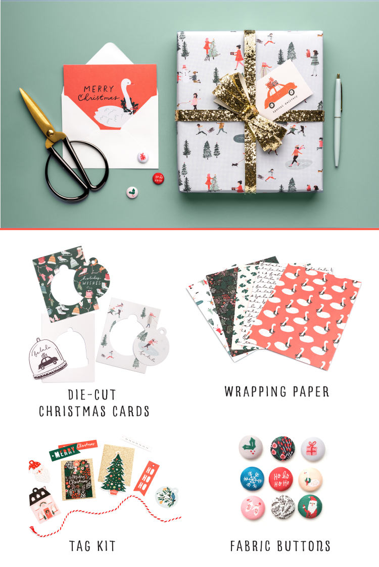 Crate Paper | Merry Days Giftwrapkit