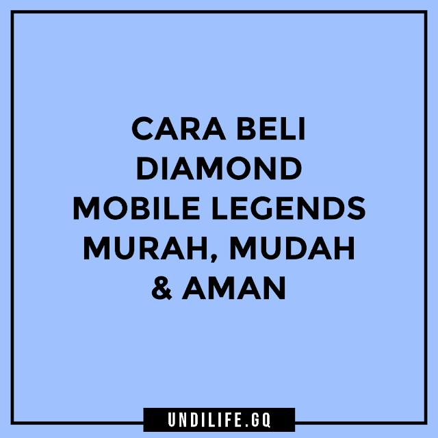 Cara beli diamonds mobile legends