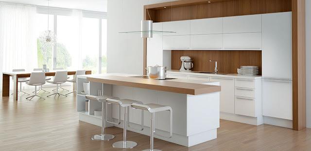 Encimeras Cocinas Blancas #4: Cocina-blanca-y-madera2.jpg